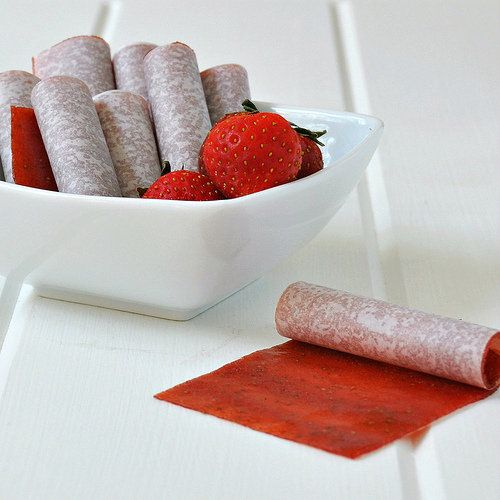 Homemade Strawberry fruit leather | yum yum | Pinterest