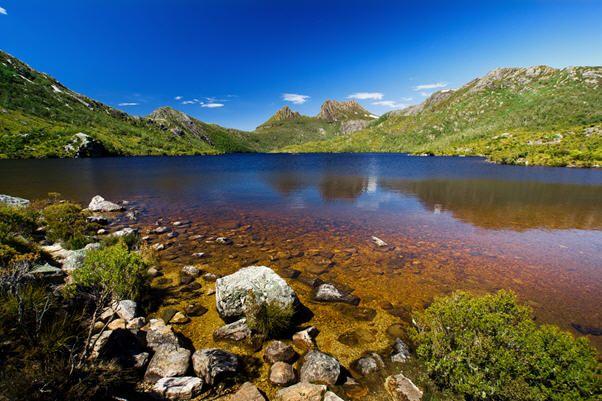 Magnificent Cradle Mountain-Lake in Tasmania, Australia
