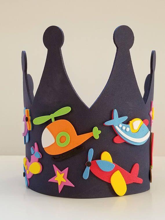 Airplane Birthday Crown Craft Kit