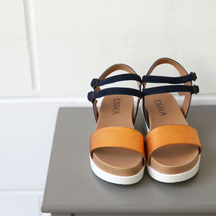 we can't get over how much we love these gorgeous and comfy sandals from Esska in our boutique store ! the go-to sandal for the summer we think #summerdaysdreaming