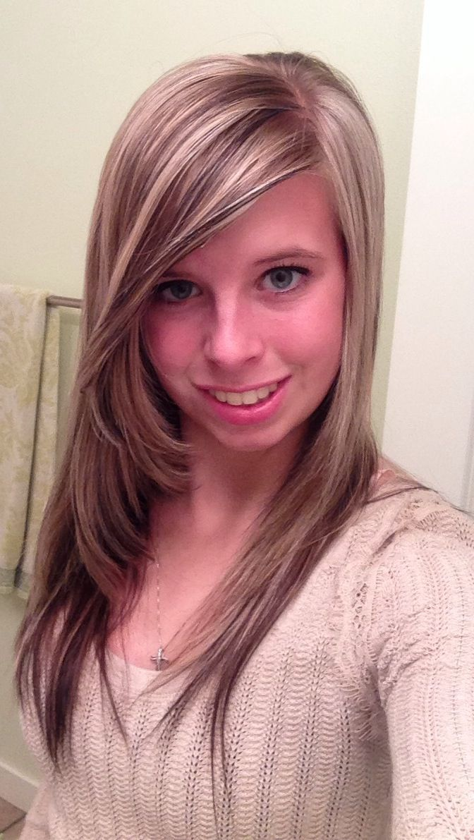 New Hair Blonde Highlights Dark Brown Lowlights