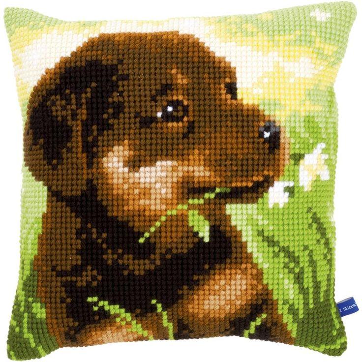 "Rottweiler Puppy Cushion Cross Stitch Kit-16""x16"""