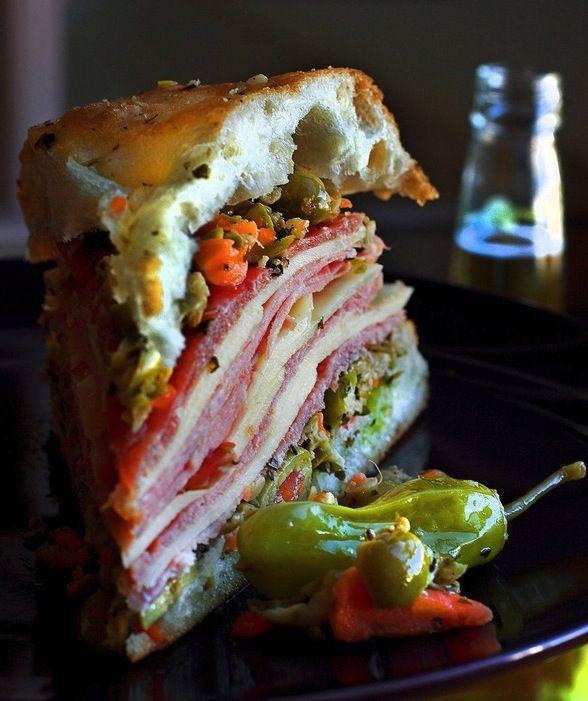 New Orleans's signature muffuletta sandwich