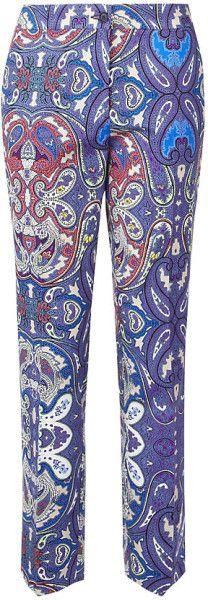 Etro  Paisley Print Capri Trousers @Lyst