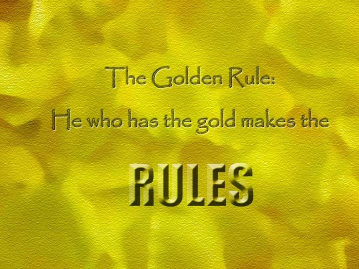 aladdin golden rule