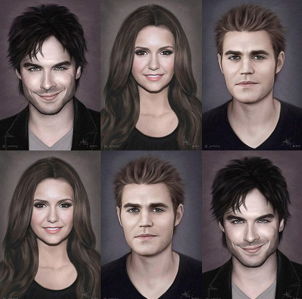 So Cool! <3 This! -- Digital Paintings of The Vampire Diaries Cast