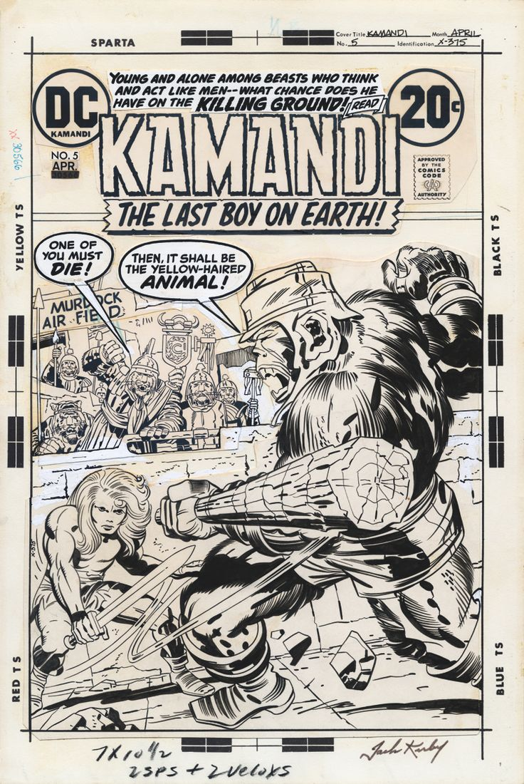 Kamandi #5 cover by Jack Kirby