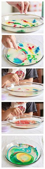 Milk, food coloring and liquid soap are all you need for this beautiful activity that doubles as a lesson in surface tension. Learn about this rainbow milk science with PBS Parents!