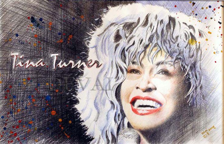 Grafik: Alex Devai Color Pencil, aquarell Tina Turner