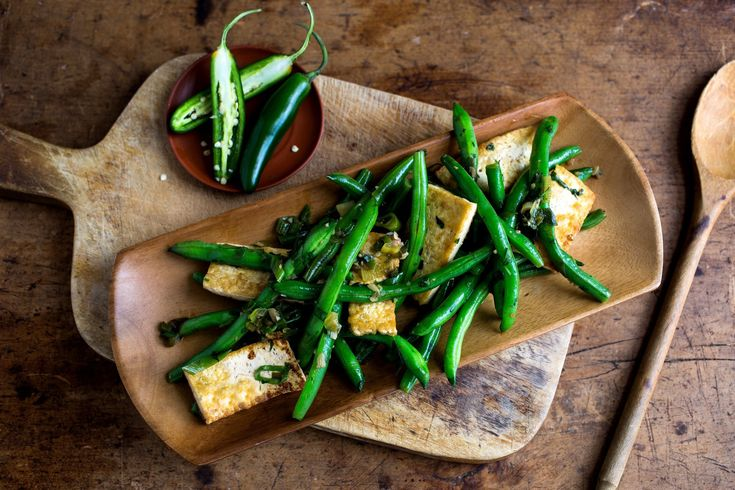 Stir-Fried Beans With Tofu and Chiles Recipe - NYT Cooking
