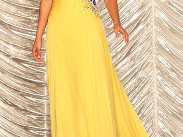 Items For Sale: Crown Couture by Gaspar Cruz Custom Evening Gown. Size 2. Fr http://ift.tt/1T2736Z