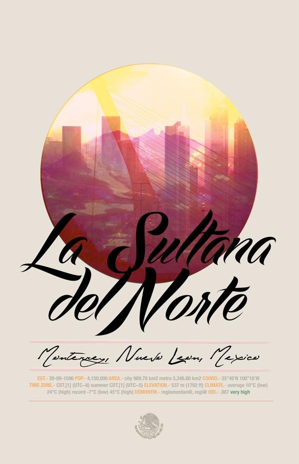 Cities of Mexico by Altäir Arts on Behance. Monterrey.