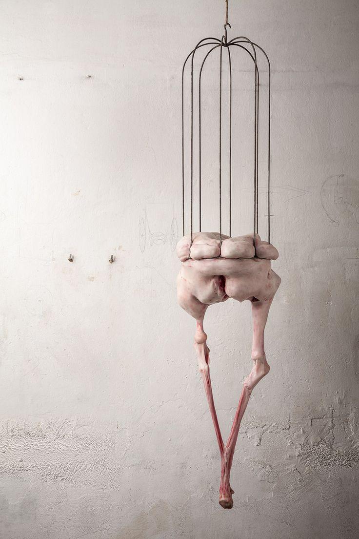 Francesco Albano's fleshy sculptures