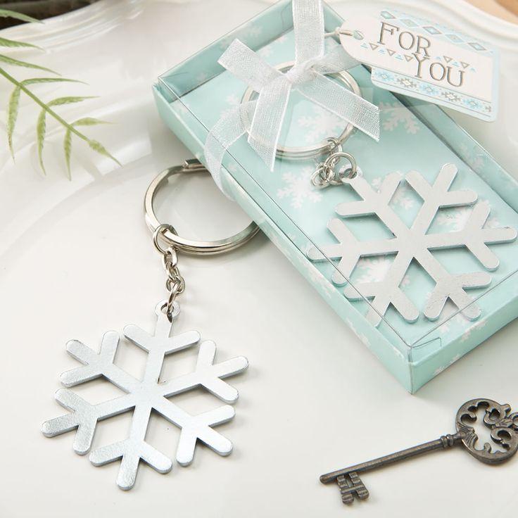 Stunning Snow Flake Design Silver Metal Key