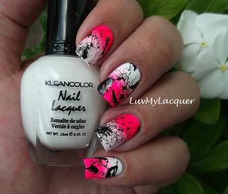 splatter + gradient - i want to do this right now lol