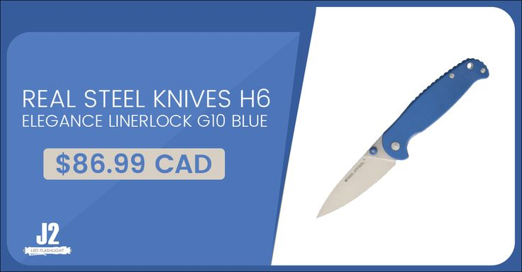 REAL STEEL KNIVES H6 ELEGANCE LINERLOCK G10 BLUE Shop Now>>https://goo.gl/Kv4YHA