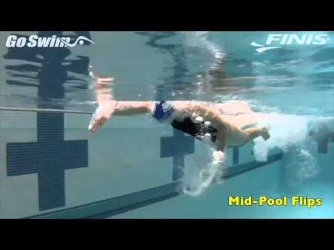 Excellent Drill for those who need to learn Flip Turns | Turns – Mid-Pool Flips | GoSwim TV