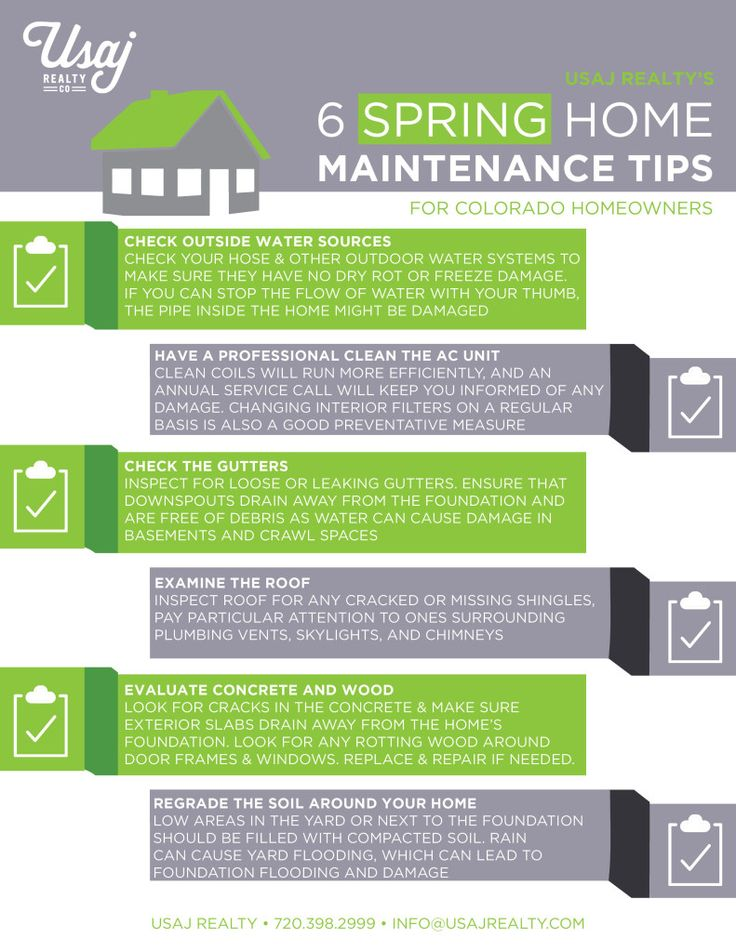 Spring Home Maintenance Checklist for Colorado homeowners! Contact - home inspection checklist