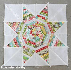 Kaleidoscope Star String Quilt Block