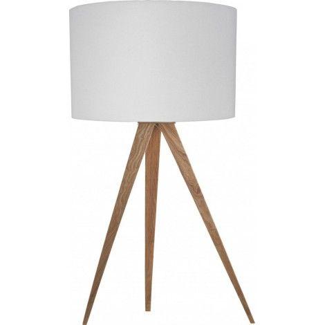 Stolní lampa Tripod Wood white - Alhambra | Design studio Praha - osvětlení a interiéry