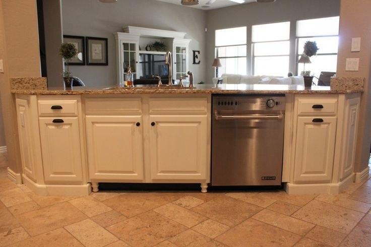When painting cabinets consider painting toe kick black for Kitchen cabinets with legs