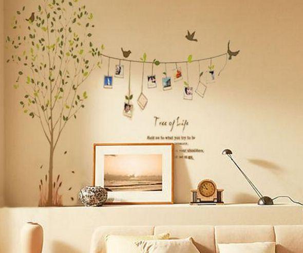 44 mejores im genes de plantillas para decorar paredes en - Plantillas pared ikea ...