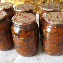 Салат кобра из помидор и баклажанов на зиму