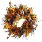 Faux Sunflower & Artichoke Fall Wreath: Artichokes Wreaths, Artichokes Fall, Creative Ideas, Autumn Thanksgiving Halloween, Fall Fun, Front Doors, Fall Wreaths, Faux Sunflowers, Autumn Wreaths