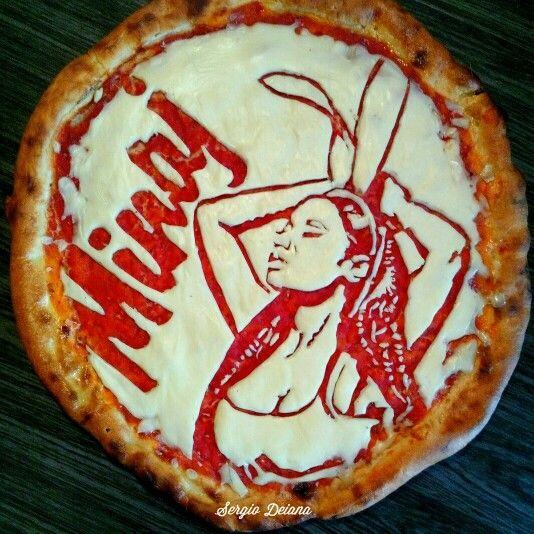Nicki Minaj pizza art by Sergio Deiana