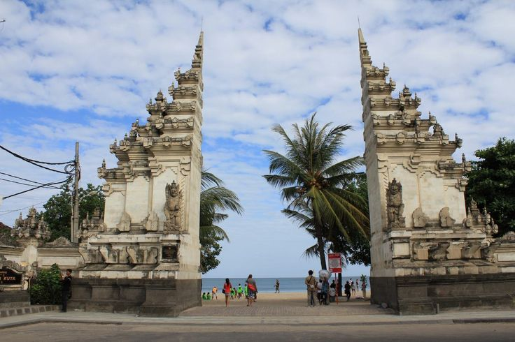 Kuta Beach Enterance, The most famous destination object in Bali  island, Legendary Kuta Beach, the center of nightlife in Bali, exactly in 61 Legian street, find the new world here at the midnight.