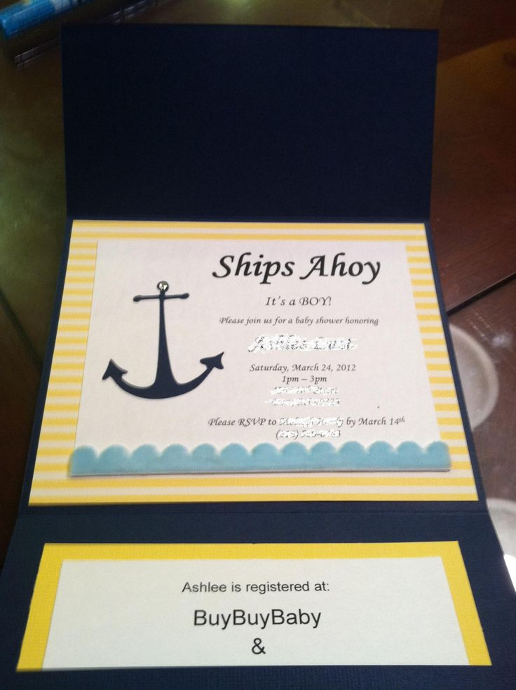 boy baby shower invitations australia%0A nautical theme invitations  Google Search  Nautical BaptismBaby Shower