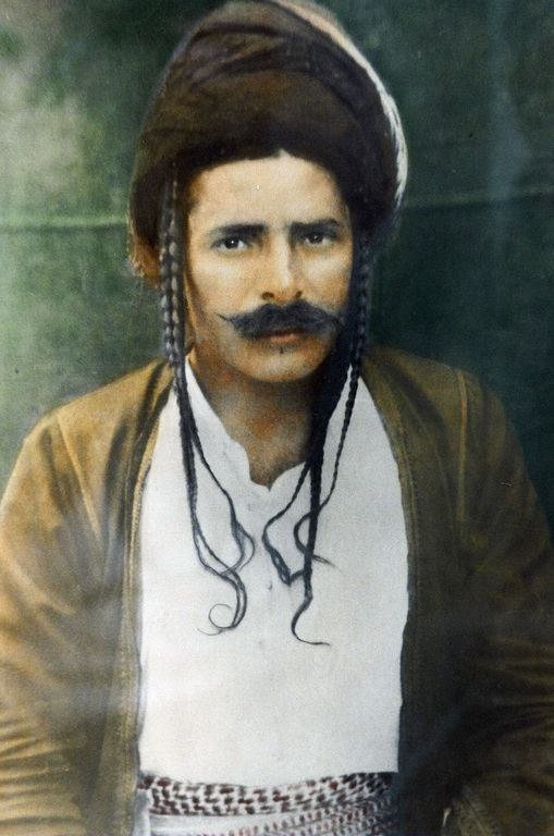 Portrait of a Yezidi man.  Northern Iraq, early 20th century.  (erickbonnier-pictures).
