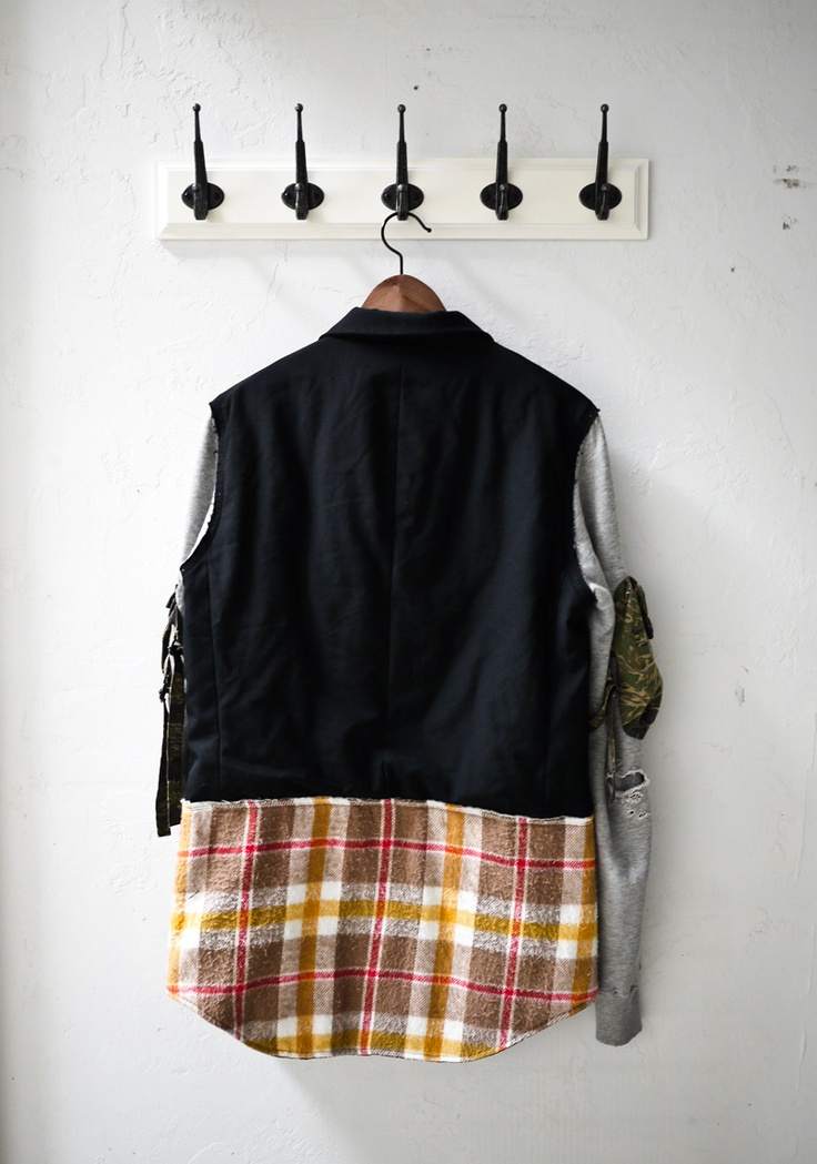 Number (N)ine 05AW Flannel Lined Contrast Blazer