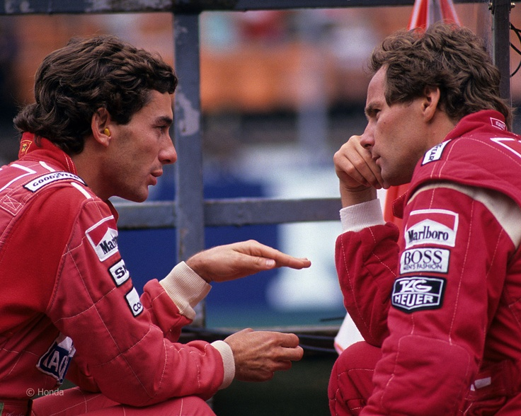 Ayrton Senna and Gerhard Berger.