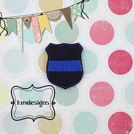 Law Enforcement Support Police badge ITH by kmdesigns2015 on Etsy