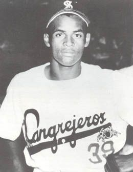 Roberto Clemente with the Santurce Cangrejeros of the Puerto Rico Winter League