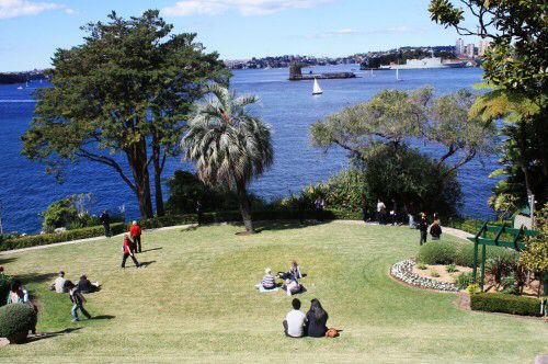 View of Sydney Harbour from Kirribilli House.