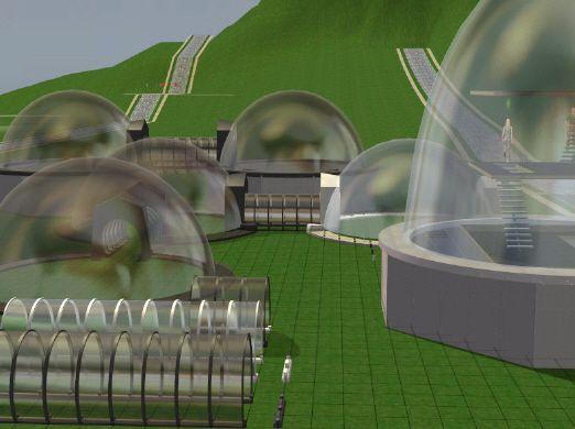 Glaskuppeln und -tunnel - glas domes an tunnels