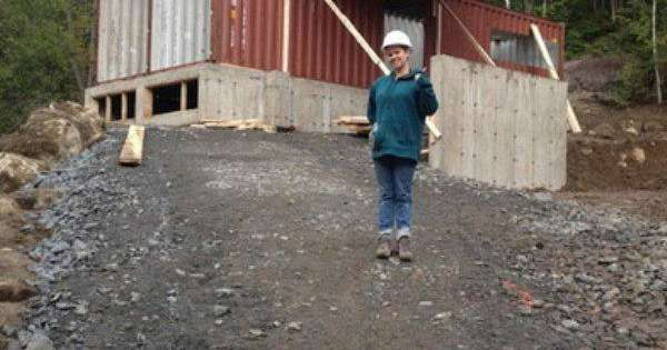 She Welds Four Shipping Containers On Her Land. When I See The End Result, I Want To Move In NOW. What A Dream Home!