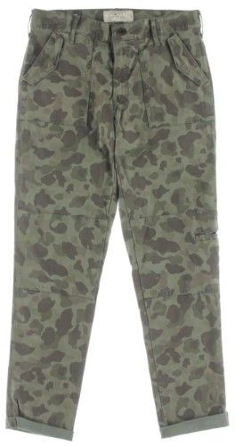 Lucky Brand Womens Camouflage Skinny Ankle Cargo Pants