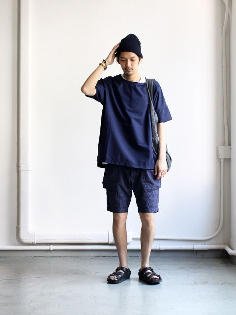 Ordinary fits Bush Short Navy -ナイモノねだり-