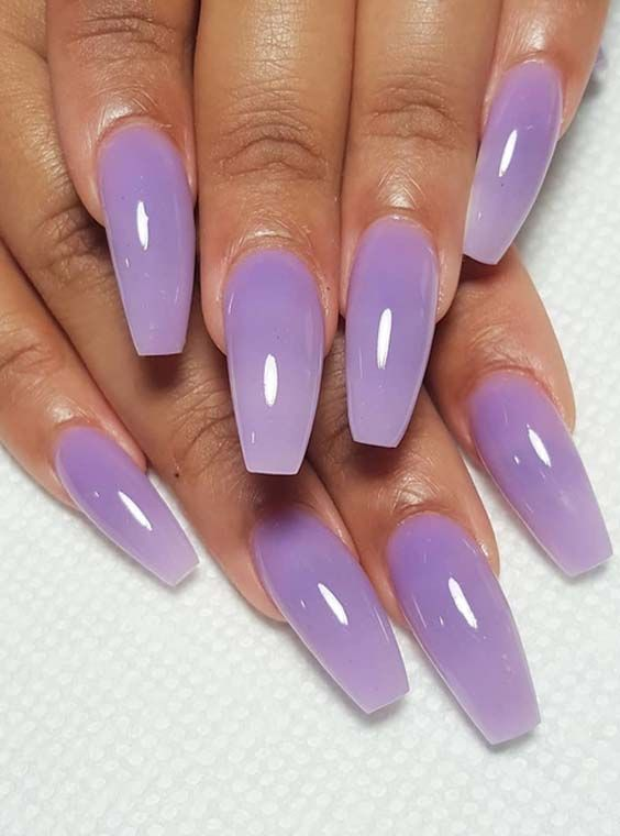 Ladies who are searching for cutest nail designs they are advised to see  here for modern collection of purple nails designs to wear in year 2018. - 49 Cutest Purple Acrylic Nail Designs For 2018 Nails Pinterest