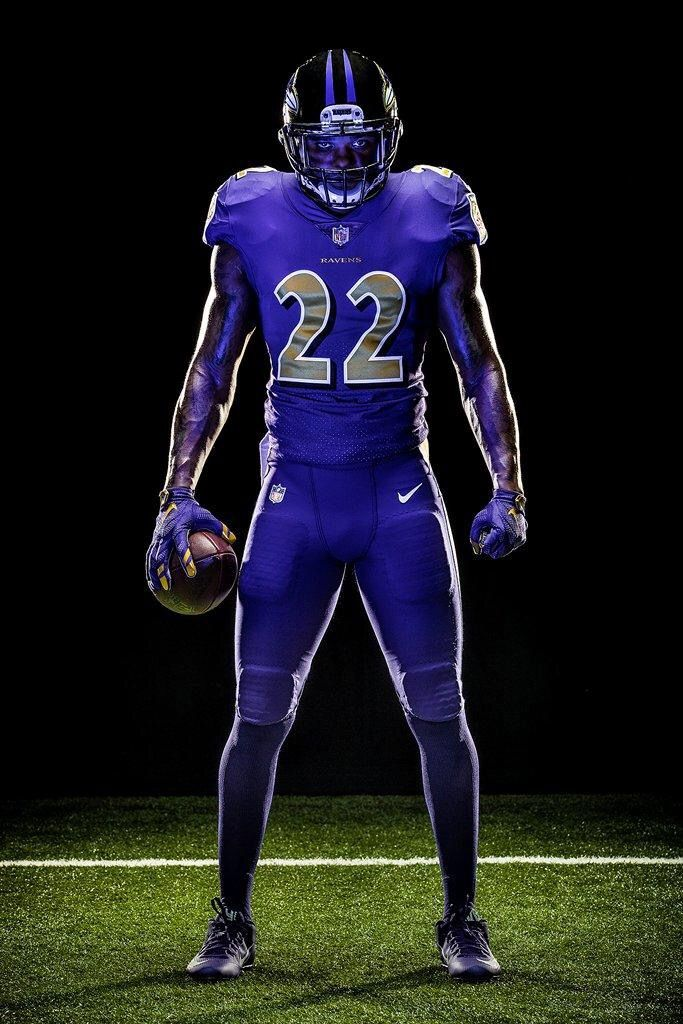 Ravens color rush uniform