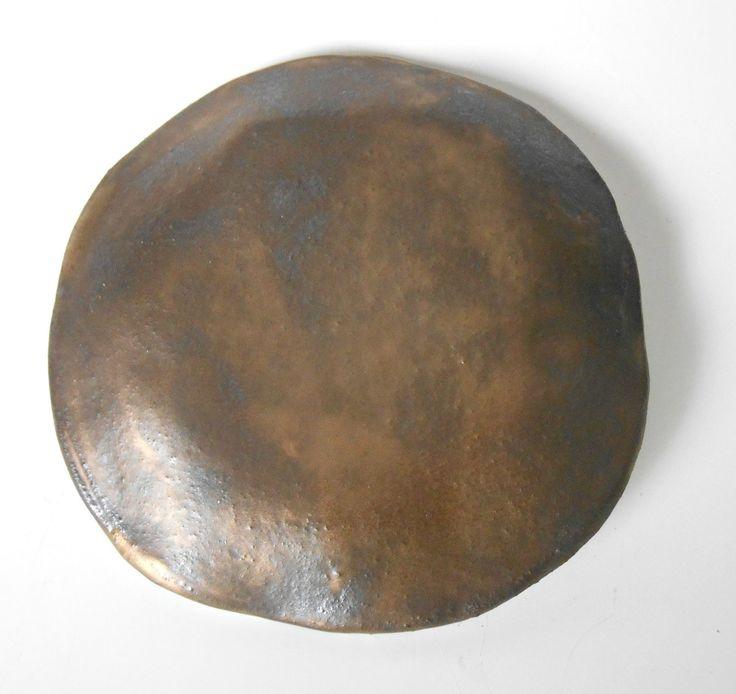 gold and brown organic modern wall sculpture | modern wall art | wall plates | contemporary ceramic wall sculpture | accent piece | wall decor | fine art | Maggie Minor Designs