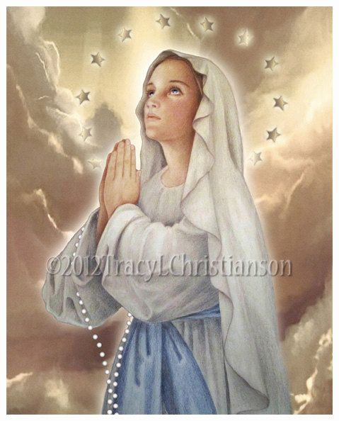 The Immaculate Conception Virgin Mary Art by PortraitsofSaints, $12.00