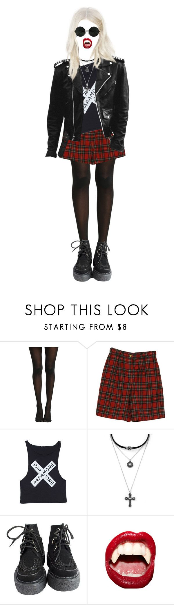 """1261"" by anastaziah2014 ❤ liked on Polyvore featuring Liz Claiborne, Forever 21 and Manic Panic NYC"