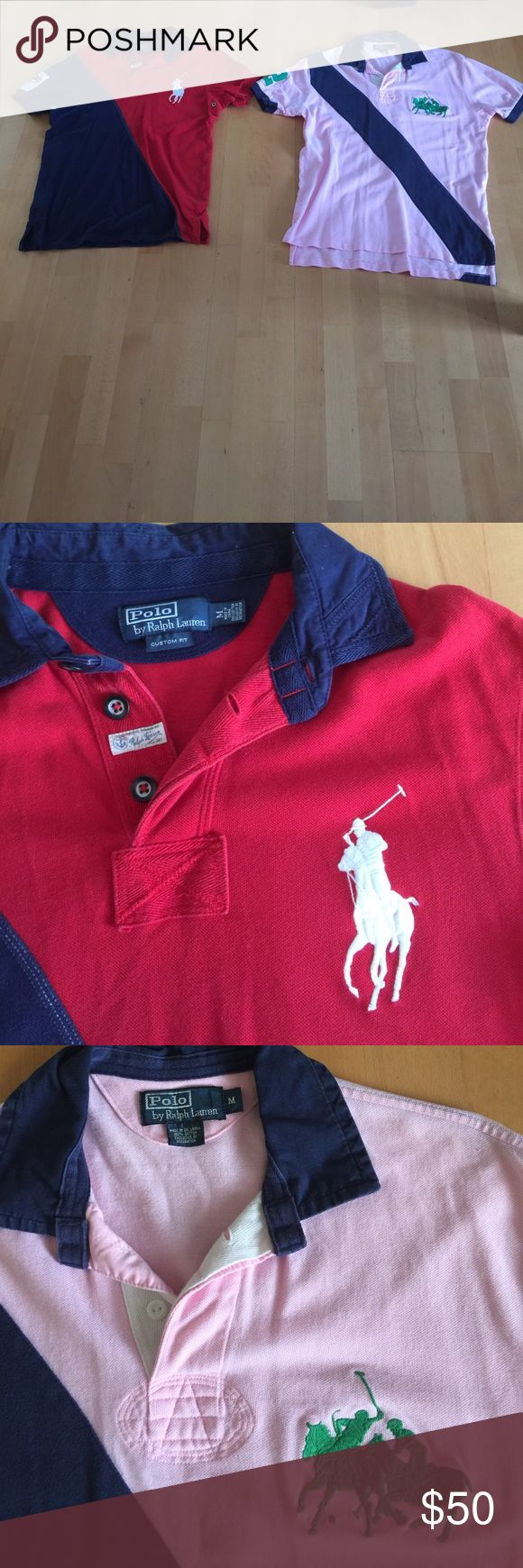 Polo by Ralph Lauren Men's Shirts size Medium I am selling two men's shoer sleeve polo shirts size medium from Ralph Lauren at the same low price 😍😍😍😍😍.   Shirts have been worn and washed previously and remain in excellent condition.   No marks or tears.   Please no trades but I accept reasonable offers. Polo by Ralph Lauren Shirts Polos