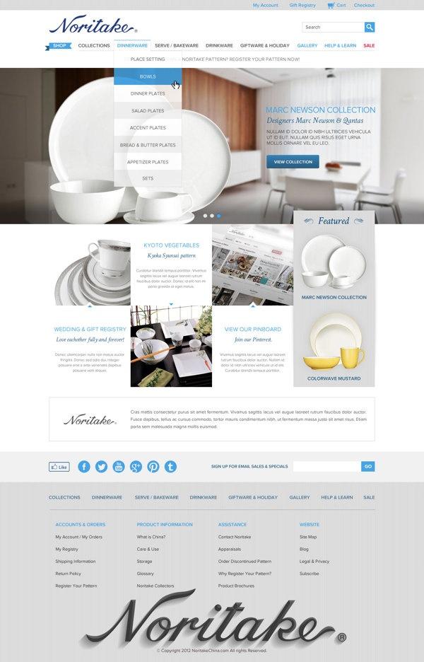 Noritake Canada Website Renewal on Behance