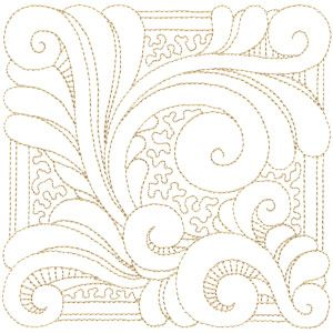 This excellent digitized quilting pattern reminds me of Flux