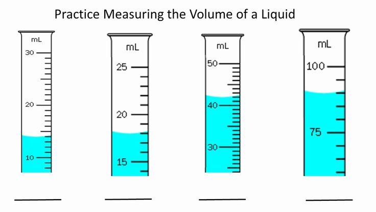50 measuring liquid volume worksheet in 2020 volume